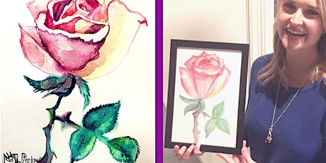 Painting a Watercolour Rose - BYO  tickets