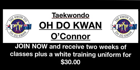 Come and try TAEKWONDO beginners classes tickets