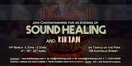 Kundalini Sound Healing & Kirtan At Temple On The Park, With Chaitanyashree tickets
