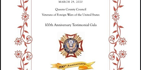 Queens County Council 100th Anniversary Testimonial Dinner tickets