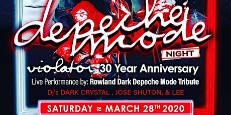 Depeche Mode Night : Live Tribute & Dance Party tickets
