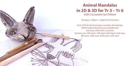 Animal Mandalas in 2D & 3D for Yr 3 – Yr 6 Term 2 tickets