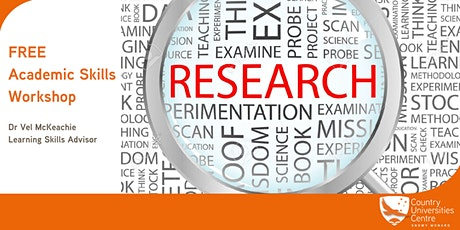 FREE - Academic Skills Workshop - Research and Report Writing tickets