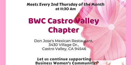 BWC Castro Valley Chapter Meeting tickets