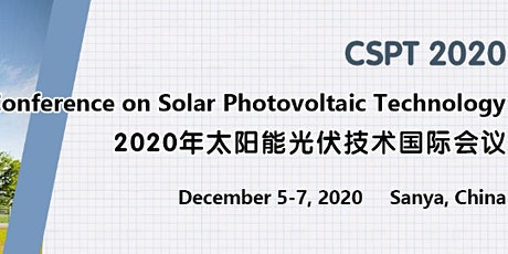 Int'l Conference on Solar Photovoltaic Technology (CSPT 2020) tickets