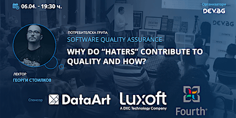 """Webinar: QA:  Why do """"haters"""" contribute to quality and how? tickets"""