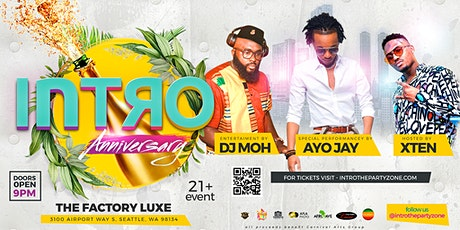 INTRO Anniversary with performance by AYO JAY tickets