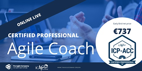 Online Agile Coach Certification - ICAgile - ICP-ACC - Live Virtual tickets