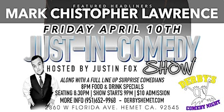Just In Comedy Show Fri. April 10th tickets