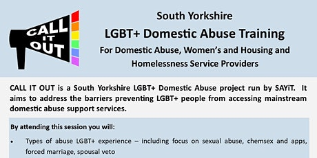 POSTPONED - South Yorkshire  LGBT+ Domestic Abuse Training tickets
