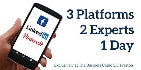 LinkedIn, Facebook and Pinterest Masterclass tickets