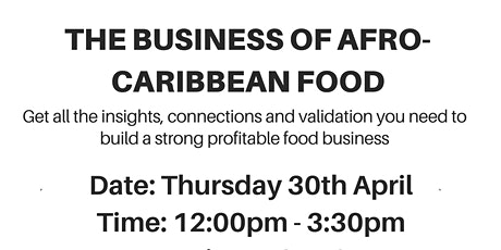 The Business of Afro-Caribbean Food tickets