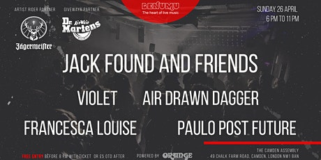 Benumu Sunday Session ft Jack Found and Friends, Air Drawn Dagger, Violet, Paulo Post Future, Francesca Louise tickets