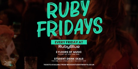 ruby blue every friday // student drink deals tickets tickets