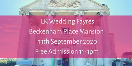 Wedding Fayre Beckenham Place Mansion tickets