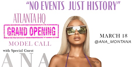 """No Events Just History"" Atlanta HQ Grand Opening tickets"
