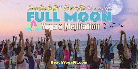 Full Moon Beach Yoga & Meditation on Ft Lauderdale - $10 tickets