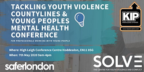Tackling  Youth Violence, Countylines &  Young Peoples Mental Health tickets