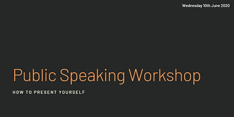 Public speaking workshop - learn to sell your story tickets