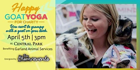 Postponed - Happy Goat Yoga-For Charity at Central Park: Benefiting Garland Animal Services tickets