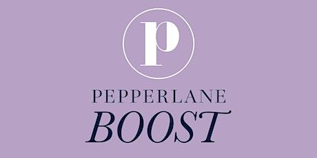 Pepperlane Boost: ONLINE Meeting (Led by Jennifer Zwiebel) tickets
