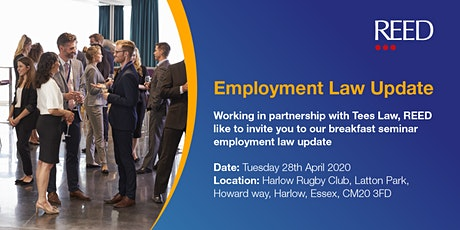 Reed & Tees Law Employment Law Update tickets