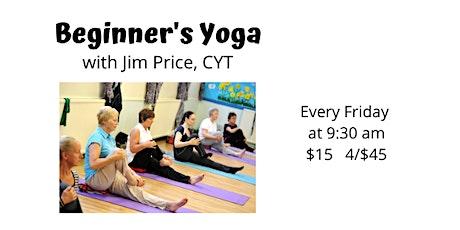 Beginner's Yoga w/Jim tickets