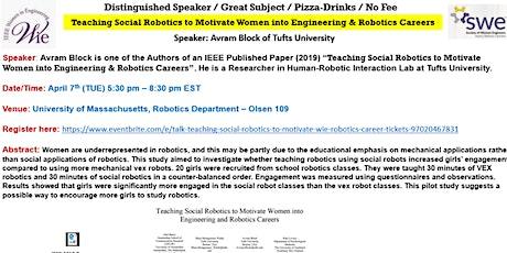 Talk: Teaching Social Robotics to Motivate WIE & Robotics Career tickets