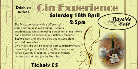 Bayside Gin Experience tickets