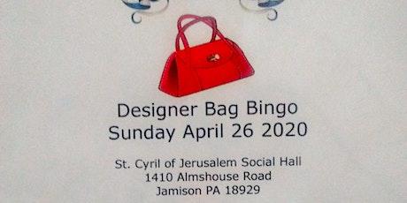 Designer Bag Bingo For Peace Valley Holistic Center tickets