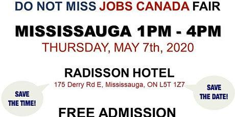 Mississauga Job Fair -  May 7th, 2020 tickets