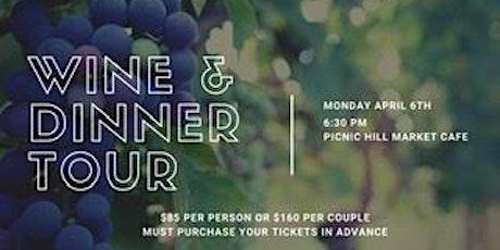 WINE & DINNER TOUR tickets