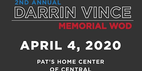 2nd Annual Darrin Vince Memorial WOD! tickets