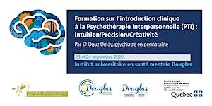 Introduction Clinique à la Psychothérapie...