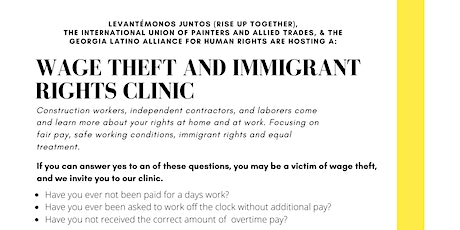 Wage Theft and Immigrant Rights Clinic tickets