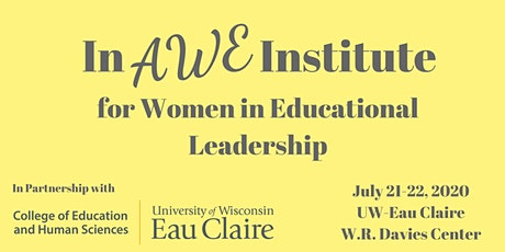 In AWE Institute for Women in Educational Leadership 2020 tickets