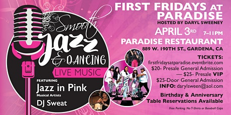 First Fridays at Paradise - Smooth Jazz & Dancing tickets