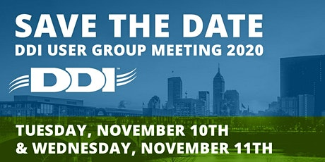 2020 DDI User Group Meeting tickets