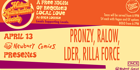 Mutual Admiration Society:  LDER, Pronzy, Ra low, Rilla Force tickets