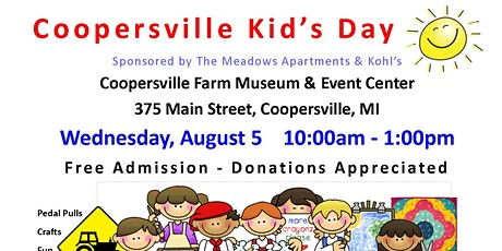 Coopersville Kid's Day & Rotary Reading Bus tickets