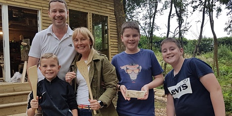 Family Woodcraft Session - Hand Carve an Egg Flipper (spatula) from a log tickets
