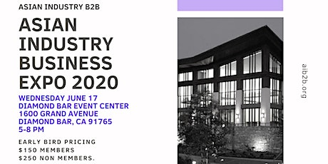 AIB2B Presents Asian Industry Business Expo 2020 tickets