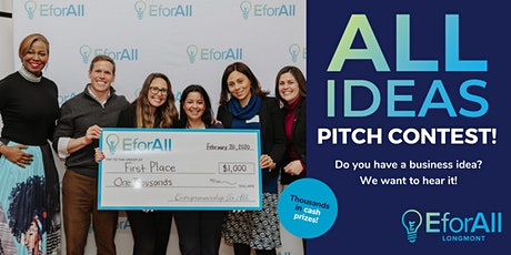 Longmont EforAll All Ideas Pitch Contest tickets