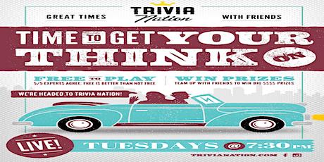 Trivia Nation Free Live Trivia at Hammock Beach Tuesdays 7:30PM tickets