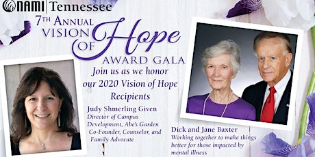 NAMI Tennessee 2020 Vision of Hope Award Gala tickets
