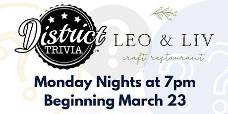 Monday Night Trivia w/ District Trivia! tickets