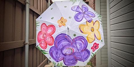 Floral Blooms Umbrella DIY Paint Party BYOB tickets