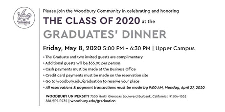 Class of 2020 Graduates Dinner and Awards Ceremony  tickets