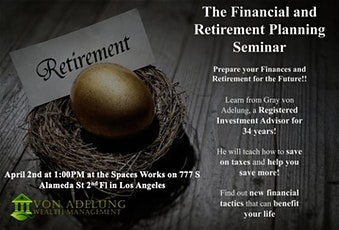 The Financial and Retirement Planning Seminar tickets