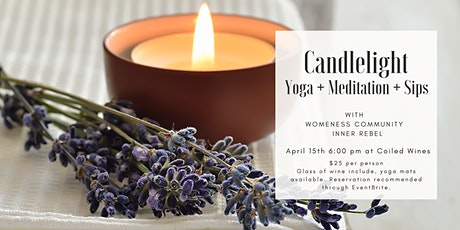 Candlelight Yoga + Meditation + Sips with Coiled Wines tickets